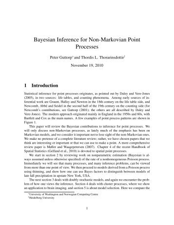 Nonparametric Bayesian inference for point processes - Statistics ...