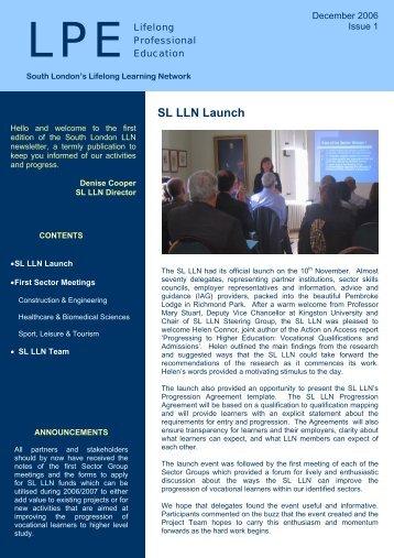 Issue 1: December 2006 - Kingston University London
