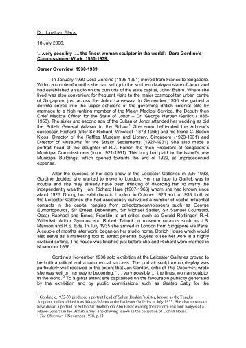 Essay for Dorich House Web-Site - Kingston University London