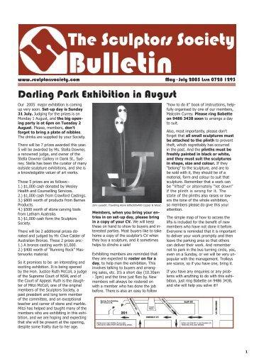 Bulletin May - July 2005 - 2.indd - The Sculptors Society