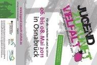 Flyer und Poster - Jugend Zukunft Vielfalt