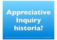 Hur Appreciative Inquiry uppstår, 1980-1985 - Styrkebaserad