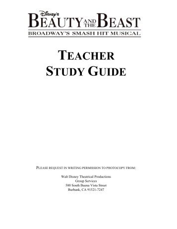 TEACHER STUDY GUIDE - Arts Club Theatre Company