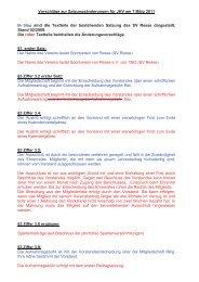 Vorschläge zur Satzungsänderungen für JHV am 7 ... - SV - Resse