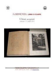 Ultimi acquisti - Garisenda - Libri e Stampe