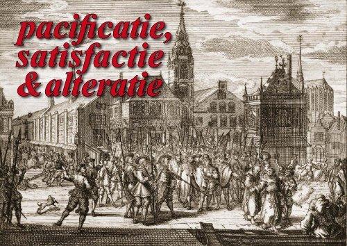 Pacificatie, Satisfactie, Alteratie - theobakker.net