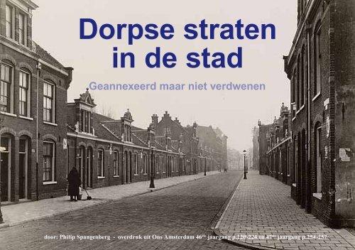Dorpse straten in de stad, Ph. Spangenberg 1995 ... - theobakker.net