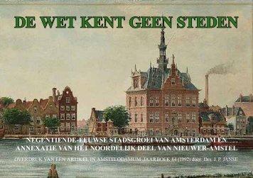 De wet kent geen steden, Drs. J. P. Janse, 1992 - theobakker.net