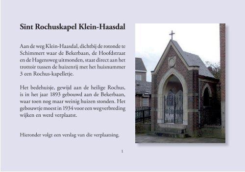 Sint Rochuskapel Klein-Haasdal - theobakker.net