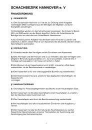 Finanzordnung 2013 - Schachbezirk Hannover