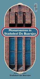 Monumenten in Stadsdeel De Baarsjes - theobakker.net
