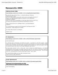 Newsarchiv 2005 - Schachbezirk Hannover