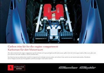 Carbon trim kit for the engine compartment Karbonset für den ...