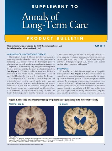 XENAZINE - Annals of Long Term Care