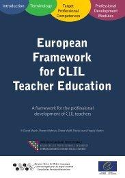 European Framework for CLIL Teacher Education - CLIL-CD ...
