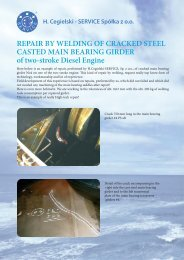 REPAIR BY WELDING OF CRACKED STEEL CASTED ... - H.Cegielski