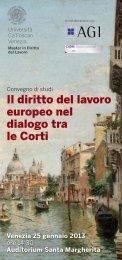 Il diritto del lavoro europeo nel dialogo tra le Corti - Ordine degli ...