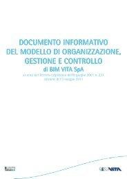 Documento Informativo del Modello di organizzazione ... - BIM VITA