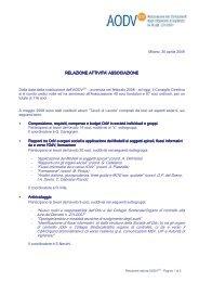 Relazione attivita AODV - Aodv231.it