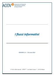 I flussi informativi - Adapt