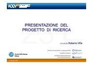 Presentazione del progetto di ricerca - Aodv231.it