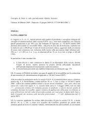 Consiglio Stato 2009 10 febb-12 giu 09 - Aodv231.it