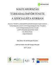magyarország társadalomtörténete a szocialista korban