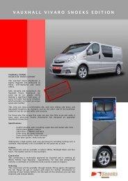 vauxhall vivaro snoeks edition - DoubleCabin - by Snoeks Automotive