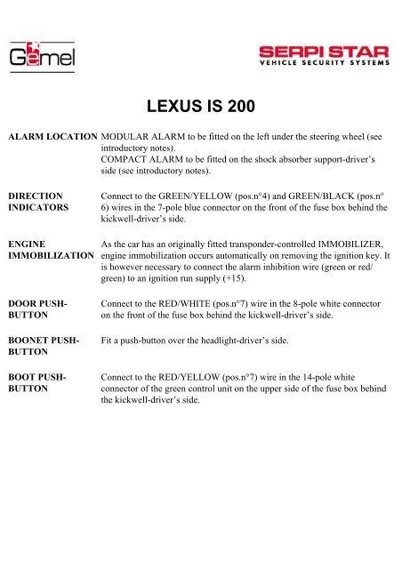 lexus is200 pdf Electrical Wiring Diagram for 18078143