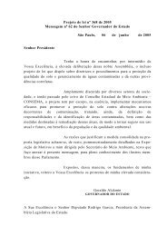 Projeto de lei nº 368 de 2005 Mensagem nº 62 do Senhor ... - ABAS