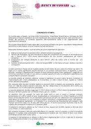 Assemblea Straordinaria e Ordinaria dei Soci 2012 - Banca di Sassari