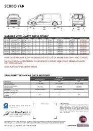 Ceník - Fiat Scudo