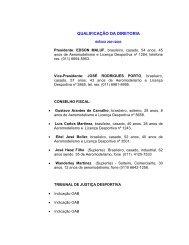 QUALIFICAÇÃO DA DIRETORIA - Aeronline