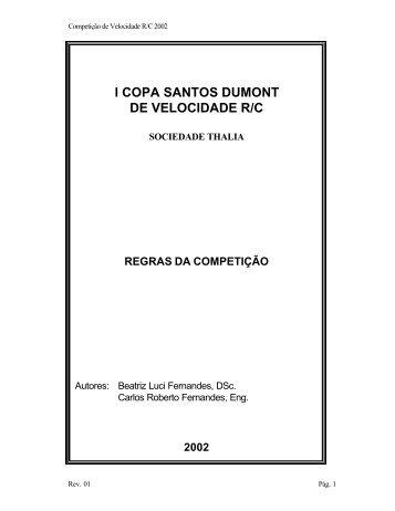 Copa Santos Dumont de Velocidade RC-Rev01 - Aeronline