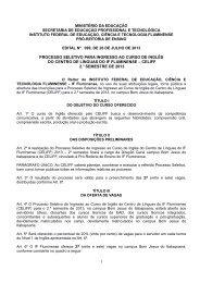 processo seletivo para ingresso aos cursos de inglês e espanhol