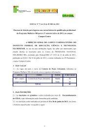 Edital xxx/2012 - Portal do Instituto Federal Fluminense
