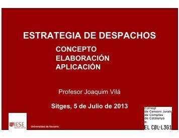 ESTRATEGIA DE DESPACHOS