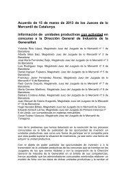 Acuerdo de 15 de marzo de 2013 de los Jueces de lo Mercantil de ...