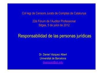 Responsabilidad de las personas jurídicas - Col·legi de Censors ...