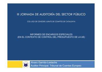 Opinión del Tribunal de Cuentas Europeo - Col·legi de Censors ...