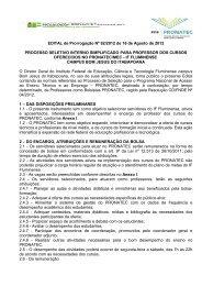 Edital - Instituto Federal Fluminense