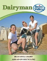 BLUE HYLL DAIRY AHEAD ON RECYCLING - Swiss Valley Farms