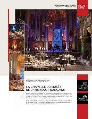 LA CHAPELLE DU MUSÉE DE L'AMÉRIQUE FRANÇAISE