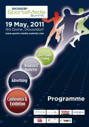 19 May, 2011 - SPONSORs Sports Media Summit