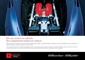 Kit vano motore in carbonio Kit compartiment moteur en carbone