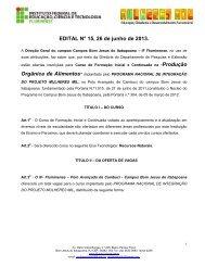 EDITAL MULHERES MIL Cambuci 2013-1.pdf - Instituto Federal ...