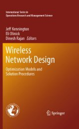 Wireless Network Design: Optimization Models and Solution ...