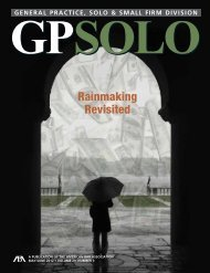 GPSolo Magazine Volume 29, Number 3 May/June 2012