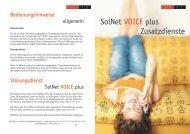 VoicePlus Zusatzdienste - bei SolNet!