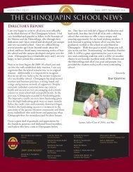 Fall 2009 Newsletter - Chinquapin Preparatory School
